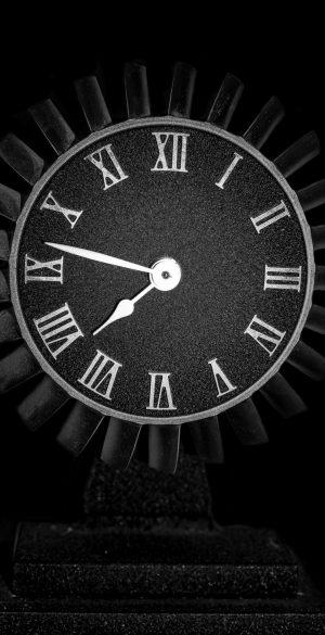 Amoled Black Clock Wallpaper 300x585 - Realme 7 Pro Wallpapers