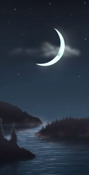 Big Moon Night Wallpaper 300x585 - OnePlus 9R Wallpapers