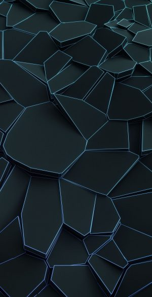 Black Blue Blocks Phone Wallpaper 300x585 - Blue Wallpapers
