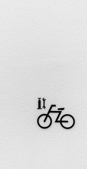 Black Cycle Sign Wallpaper 300x585 - OnePlus 9R Wallpapers