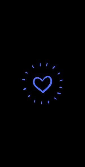 Blue Heart Amoled Wallpaper 300x585 - OnePlus 9R Wallpapers