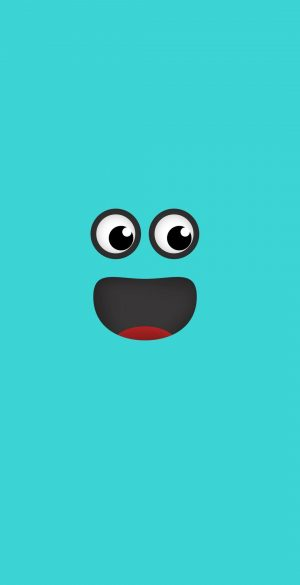 Blue Smiley Face Wallpaper 300x585 - OnePlus 9R Wallpapers