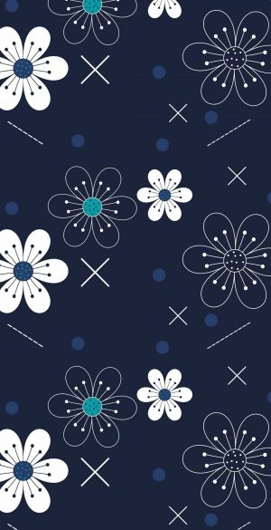 Blue and white pattern Wallpaper 300x585 - OnePlus 9R Wallpapers