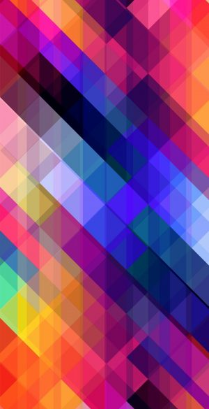 Color Blocks Abstract Phone Wallpaper 300x585 - Blue Wallpapers