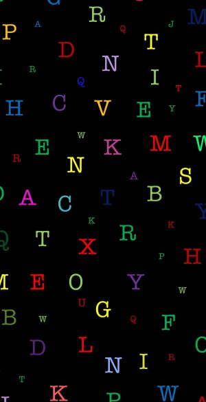 Colorful Alphabet Letters Wallpaper 300x585 - Xiaomi Poco F3 Wallpapers