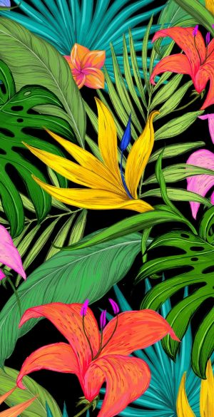 Colorful Leaves Wallpaper 300x585 - Xiaomi Poco F3 Wallpapers