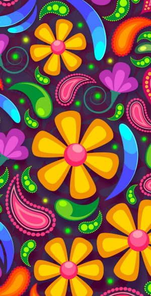 Colorful pattern style Wallpaper 300x585 - Oppo Reno 4 Wallpapers