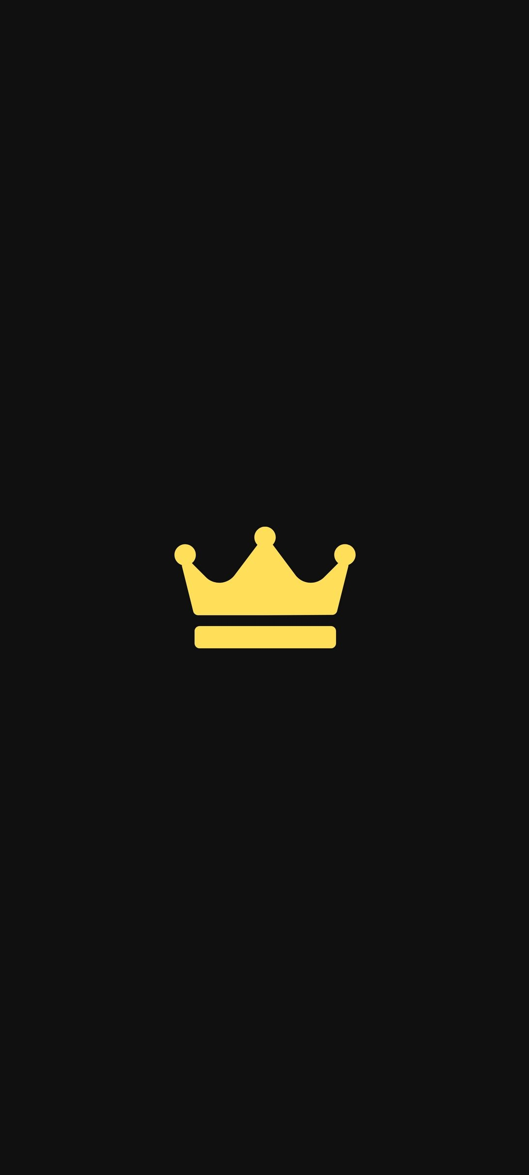 Crown Amoled Black Wallpaper