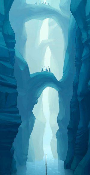 Fantasy Mountain Phone Wallpaper 300x585 - Blue Wallpapers