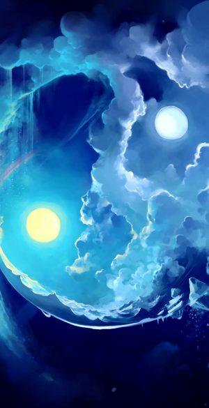 Fantasy Night Sky Phone Wallpaper 300x585 - Blue Wallpapers