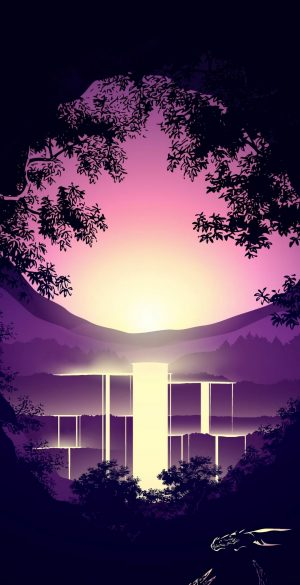 Fantasy Waterfall Vector Wallpaper 300x585 - Xiaomi Poco F3 Wallpapers