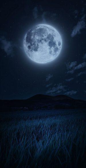 Full Moon Night Phone Wallpaper 300x585 - iPhone Black Wallpapers