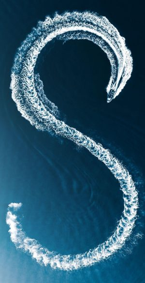 Letter S Boat Draw In Sea Phone Wallpaper 300x585 - Blue Wallpapers