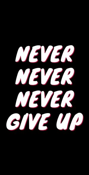 Never Never Give Up Wallpaper 300x585 - Xiaomi Poco F3 Wallpapers