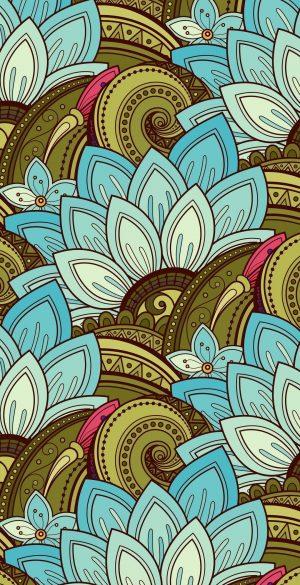 Pattern of flowers Wallpaper 300x585 - Vector Wallpapers