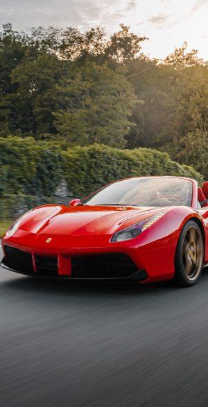 Red Ferrari on Road Wallpaper 300x585 - Realme 7 Pro Wallpapers