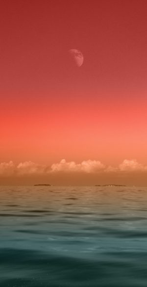 Red sky and sea Wallpaper 300x585 - Nature Wallpapers