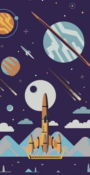 Rocket Vector Wallpaper 300x585 - Realme 7 Pro Wallpapers
