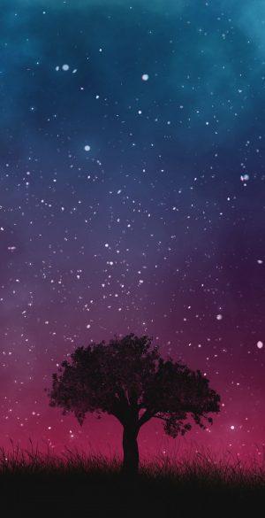 Tree Alone Night Wallpaper 300x585 - Realme 7 Pro Wallpapers