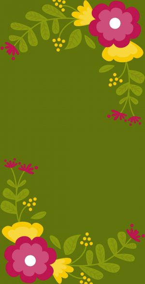 Vector Flowers Wallpaper 300x585 - Realme 7 Pro Wallpapers