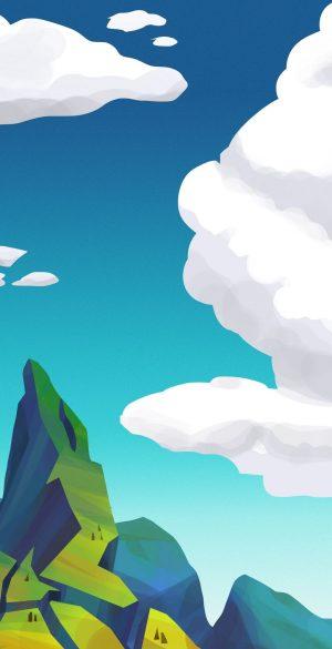Vector Sky Mountain Phone Wallpaper 300x585 - Blue Wallpapers