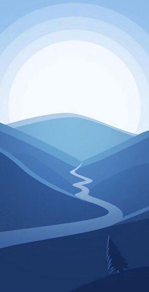 Vector Valley Phone Wallpaper 300x585 - Blue Wallpapers
