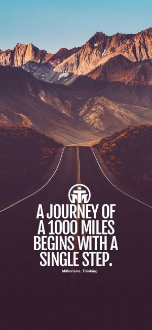 A Journey Of 1000 Miles Wallpaper 300x650 - Quotes iPhone Wallpapers