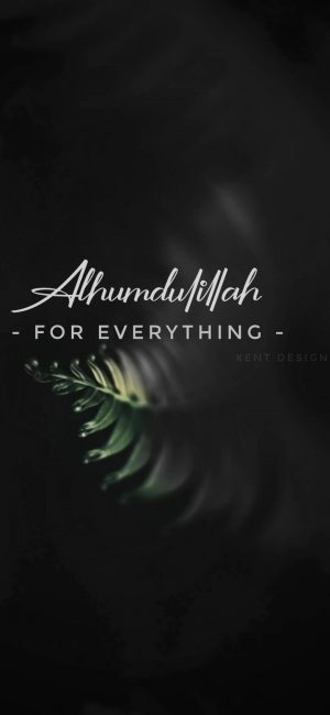 Alhamdulillah For Everything Wallpaper 300x650 - Quotes iPhone Wallpapers