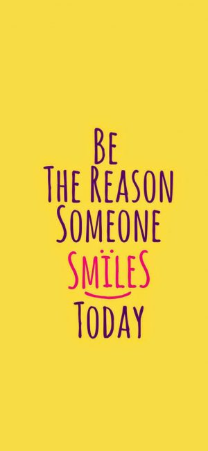 Be The Reason Of Smiles Wallpaper 743x1610 300x650 - Quotes iPhone Wallpapers