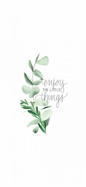 Enjoy Little Things Wallpaper 300x650 - White Wallpapers