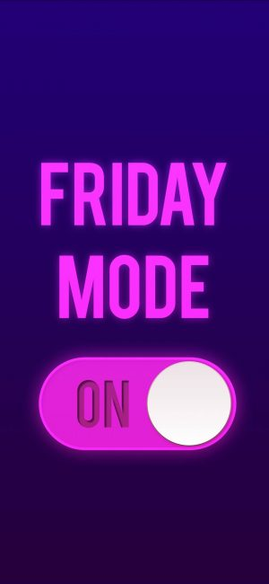 Friday Mode ON Wallpaper 1080x2340 300x650 - Purple Wallpapers