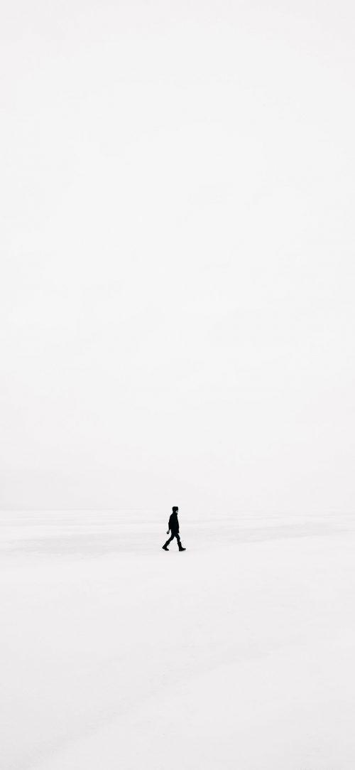 Man Alone White Wallpaper HD 500x1083 - Man Alone White Wallpaper HD