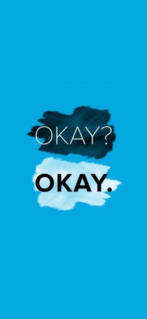 Okay Wallpaper 886x1920 300x650 - Blue Wallpapers