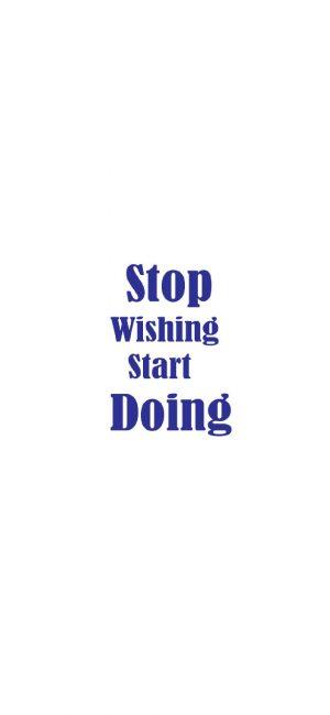 Stop Wishing Wallpaper 1080x2340 300x650 - White Wallpapers