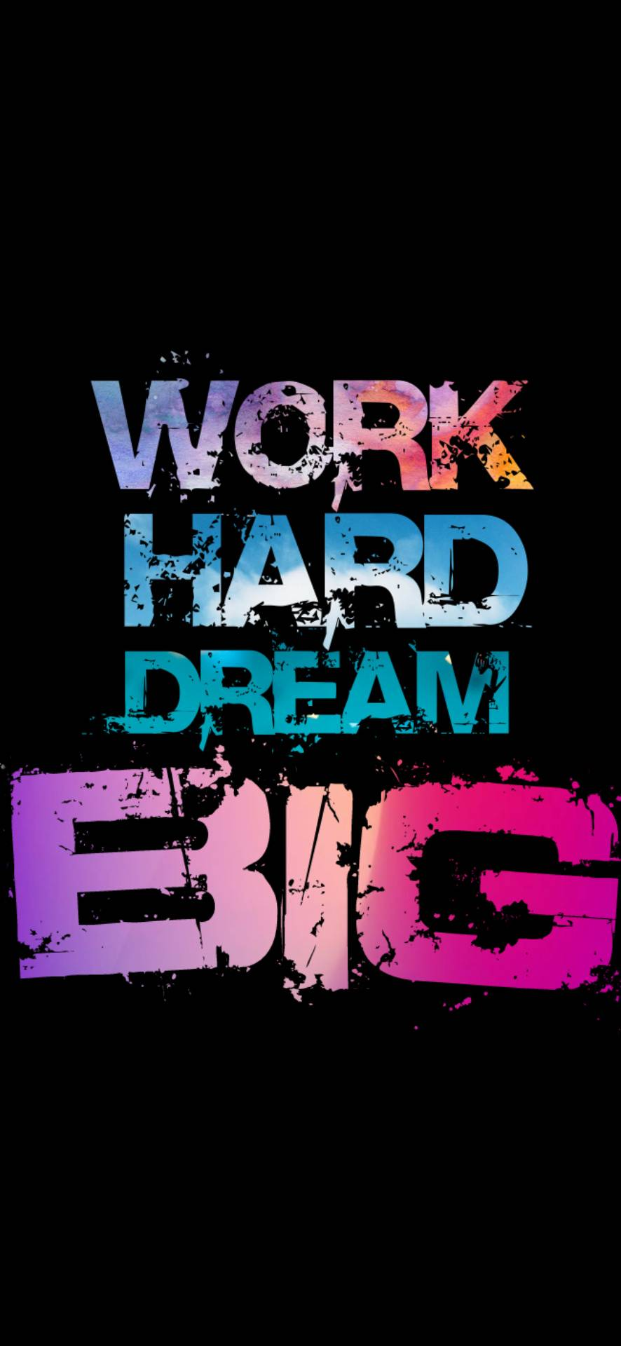 Work Hard Wallpaper 886x1920