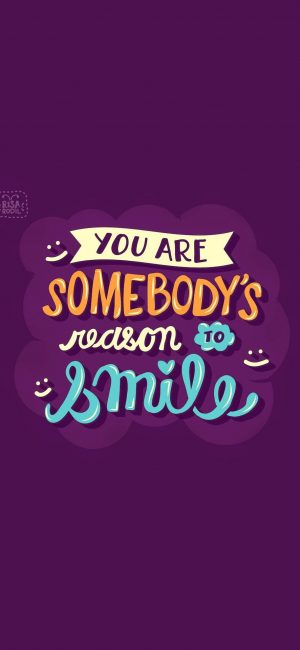 You Are Reason Of Smile Motivational Wallpaper 300x650 - Purple Wallpapers