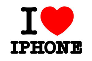 i love iphone - Quotes iPhone Wallpapers