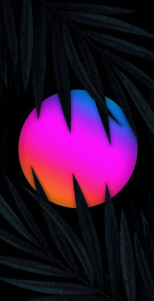 3D Neon Sun Phone Wallpaper 150 300x585 - Vector Wallpapers