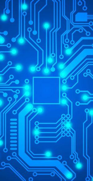 3D Neon Tech Phone Wallpaper 105 300x585 - Blue Wallpapers