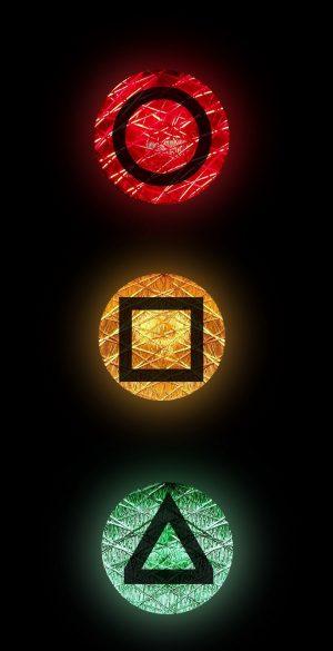 3D Traffic Lights Neon Amoled Phone Wallpaper 175 300x585 - Neon Wallpapers