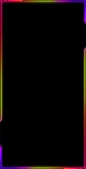 Neon Border AMOLED Black Wallpaper 07 300x585 - Neon Wallpapers
