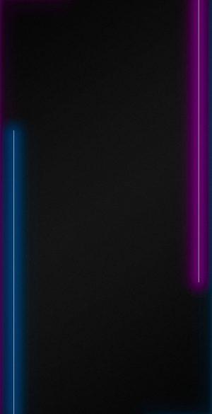 Neon Border AMOLED Black Wallpaper 08 300x585 - Neon Wallpapers