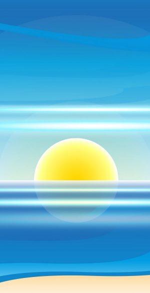 Vector Beach Sunrise Wallpaper 157 300x585 - Blue Wallpapers