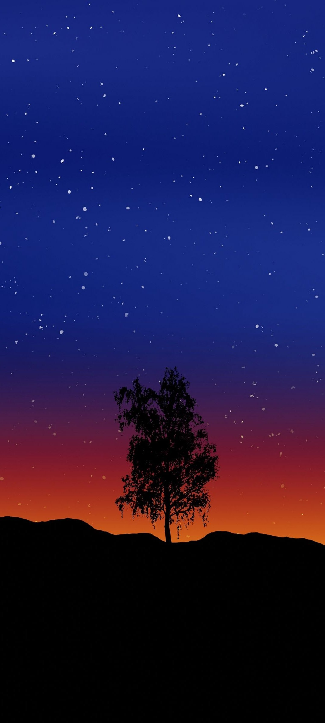 Vector Black Night Sky Wallpaper 014