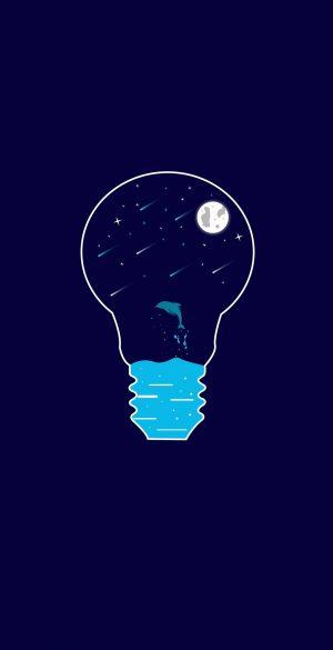 Vector Bulb Wallpaper 097 300x585 - Blue Wallpapers