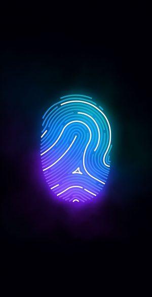 Vector Neon Fingerprint Wallpaper 126 300x585 - Blue Wallpapers