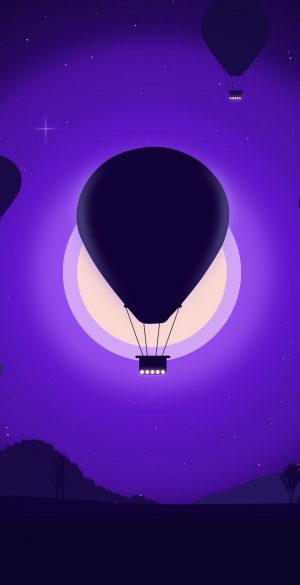 Vector Night Air Ballon Wallpaper 071 300x585 - Vector Wallpapers