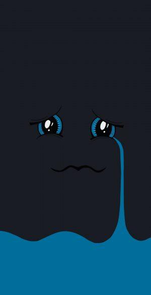 Vector Sad Amoled Black Wallpaper 047 300x585 - Blue Wallpapers