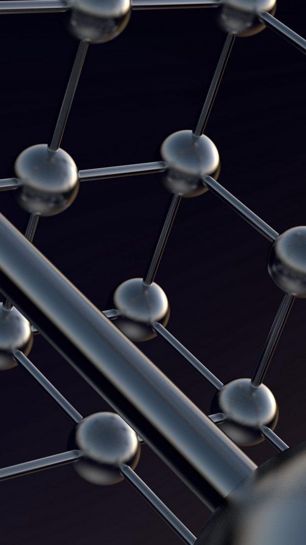 3D Atoms Shapes Models Balls HD Wallpaper 1080x1920 600x1067 - 3D Atoms Shapes Models Balls HD Wallpaper - 1080x1920