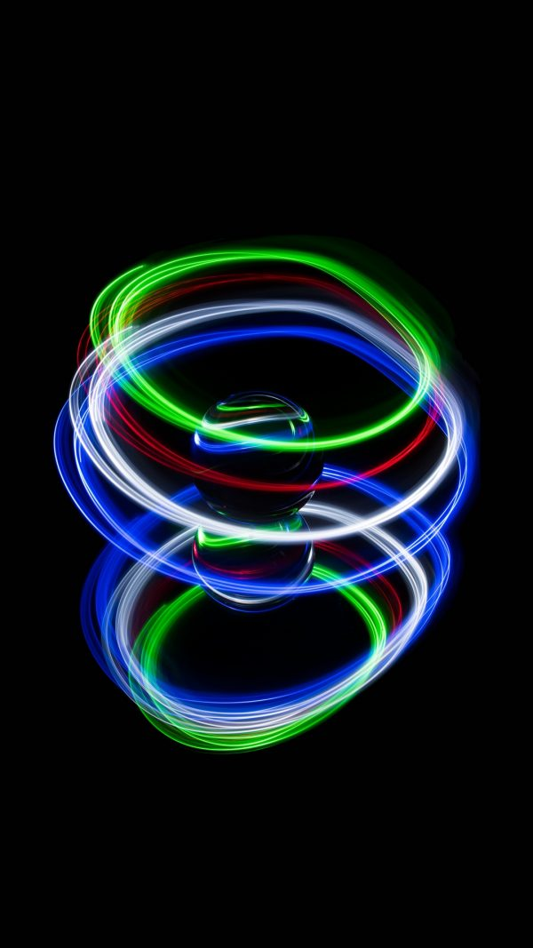 3D Ball Neon Glass HD Wallpaper 1080x1920 600x1067 - 3D Ball Neon Glass HD Wallpaper - 1080x1920